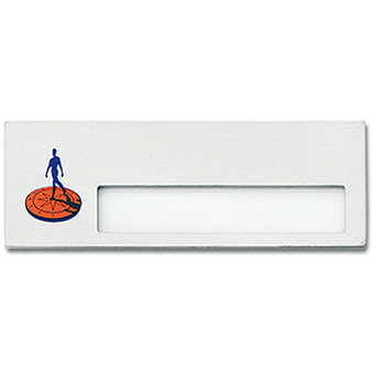 Naambadge aluminium 70 x 25 mm